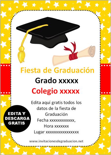 las mejores invitaciones de graduaci u00f3n primaria para